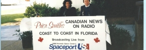 Broadcasting Live from the Kennedy Space Center